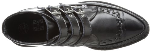 TUK Pointed Creeper, Unisex - Erwachsene Sneaker Schwarz (Noir (Black Leather/Black Interlace))