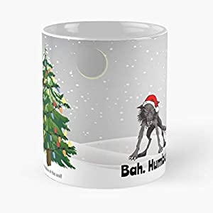 Wolves Christmas Greeting Cards Wolf Bah Humbug - Coffee Mug Tea Cup Gift 11oz Mugs The Best Holidays.