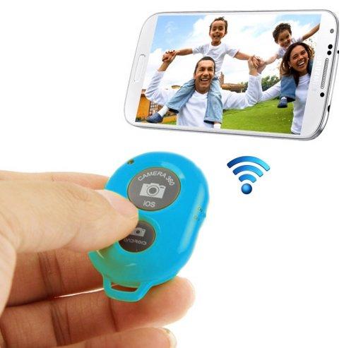 """Monkey Cases® """"Bleu et caméra bluetooth télécommande retardateur Shutter Déclencheur pour iPhone 5S 5C 54S 6Plus Samsung Galaxy S4S3Note 32Smartphones et Tablet PC-Bleu"""