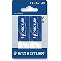Staedtler - Mars Plastic 526 50 - Blister 2 Gommes Blanches sans Latex (Blister Court 110 x 66 mm)