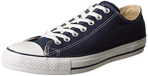 9,5 M Schuhe (Converse Unisex-Erwachsene Chuck Taylor All Star-Ox Low-Top Sneakers, Blau (Navy), 43 EU)