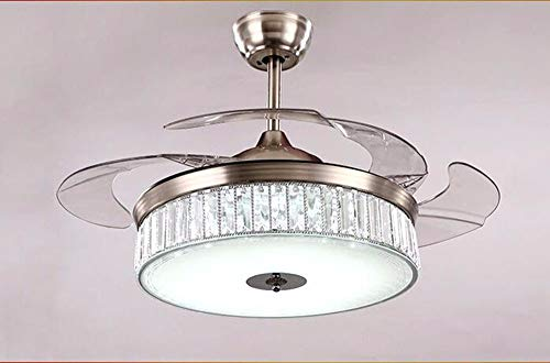 ▶ * Deckenventilator mit Lampe Schlafzimmer Led Kronleuchter Fan Licht zeitgenössische Beleuchtung Lampen und Laternen Höhe 420 Mm ◀ -
