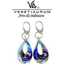 Venetiaurum - Orecchini donna in vetro originale di Murano e argento 925 - Gioiello made in Italy certificato