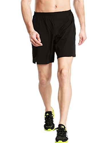 HYHAN Männer Sommer Outdoor-Sport-beiläufige Hosen Schnell trocknend Wandern Wasserdicht Kurz Fitness Strandhosen (mehr Farbe) Black