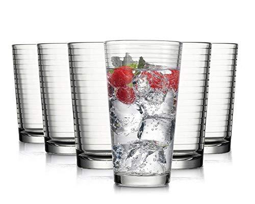 Tivoli Madrid Wassergläser - 375 ml - Set aus 6 - Hochwertige Gläser ? Spülmaschinenfest ? Kristallgläser