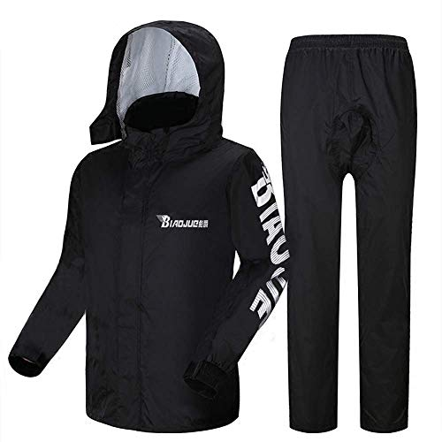 Geyao Raincoat Regen Hosen Anzug Herren Split Körper wasserdicht Männer Angeln speziell Reiten Berg Motorrad Regenmantel (Size : XL)