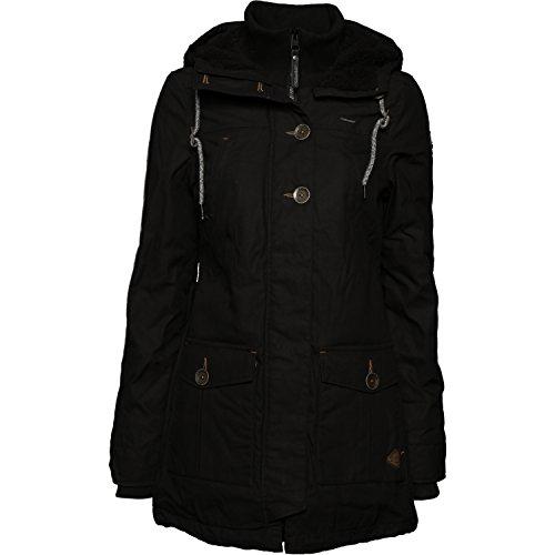 Ragwear Damen Mantel Wintermantel Winterparka YM-Jane (vegan hergestellt) Schwarz Gr. L - 2