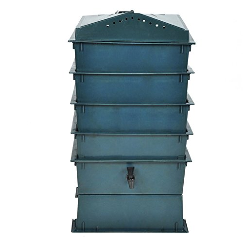 Anself Worm Factory 4 Tray Worm Composter