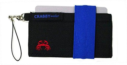 Crabby Portafoglio V2, piccoli e sottili pratico Portafoglio, Portamonete, Portafoglio, Portafoglio, In Pelle, 10,5x 5,5x 0,5cm nero Grey blue