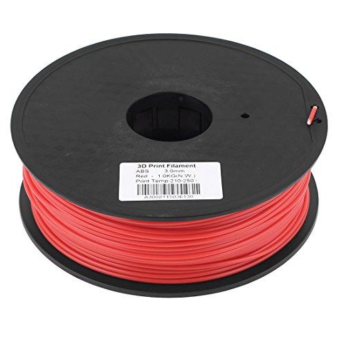 Preisvergleich Produktbild sourcingmap® Rot 3mm ABS 1kg/2,2lb 3D Drucker Filament für RepRap Ultimaker Makerbot de