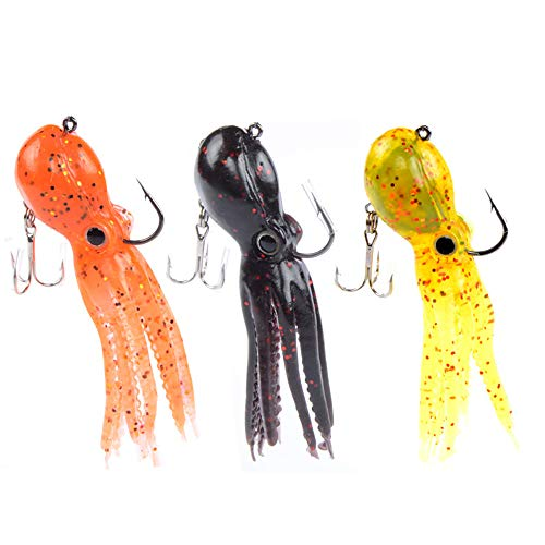 5pcs pesca jigs pesca ganci pesca esca pvc esche da pesca-4 piccoli ganci-cute e vivida immagine per esche d'acqua dolce acqua salata-9cm-colore casuale