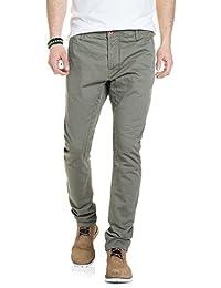 Salsa - Pantalon Chad en toile vert et slim - Homme