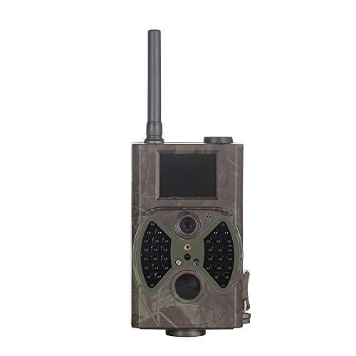 12MP FULL HD 1080p CMOS Wildkamera Jagdkamera mit Infrarot Überwachungsmodus | 2-Zoll TFT-Bildschirm | Nachsichtfunktion | Bewegungserkennungsmodus| IP54 | MMS/SMS/EMail/-Funktion GPRS | Fernbedienung