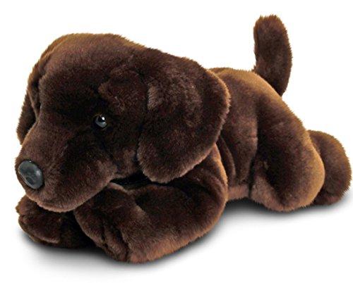 Preisvergleich Produktbild Keel Toys Plüschtier Hund Schokoladen Labrador, Kuscheltier liegend ca. 30 cm