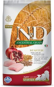 Farmina N&D Ancestral Grain Dry Dog Food, Puppy Starter, All Breed, 2.5-kg, Chicken and Pomegra