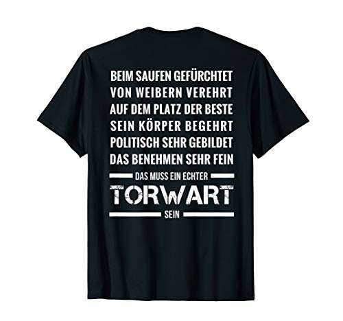 Torwart Fussball Torhüter Sportplatz T-Shirt (Lustige Fußball-t-shirts)