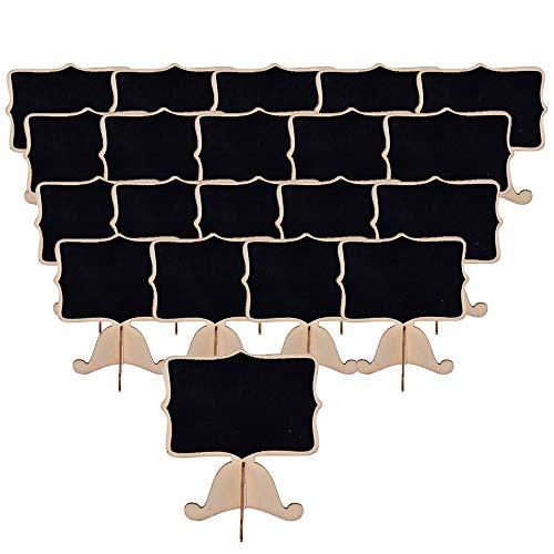 hwarzes Brett-Holz Mini Chalkboard Signs Mit Staffelei-Stand Für Mitteilung, Hochzeit, Geburtstagsfeiern, Tischnummern Schule ()
