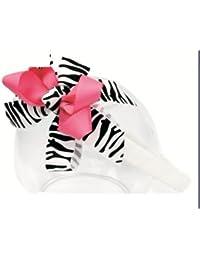 Needybee Girls Headband -White and Pink -Nha221Wp