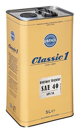 RAVENOL Oldtimer Regular SAE 40 API SA unlegiert - Motoröl für Oldtimer (5 Liter)