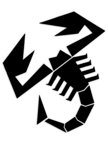 Abarth 21582Aufkleber prefustellati Skorpion, schwarz, 240mm