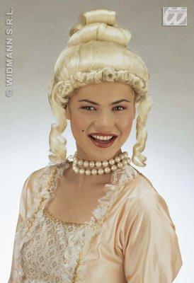 Sancto Adelige Barock-Damenperücke mit Korkenzieherlocken blond Einheitsgröße