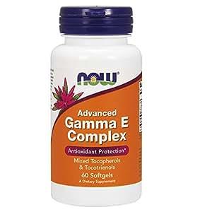 NOW Foods Advanced Gamma E Complex, 60 Softgels
