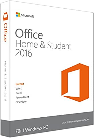 Microsoft Office Home & Student 2016 für 1 PC - Neu & unbenutzt - (Produktschlüssel ohne Datenträger) - Beinhaltet Word, Excel, Powerpoint und One