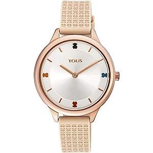 Reloj Tous 900350115 Tartan de Acero IP Rosado con Correa de Silicona Nude