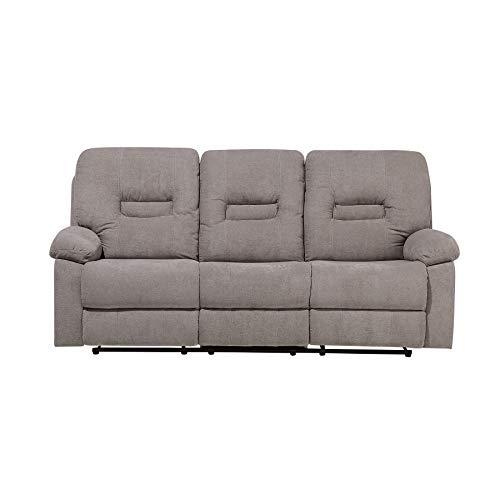 Klassischer 3-Sitzer Sofa Polsterbezug Taupe verstellbar Bergen