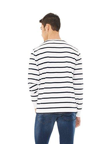 Ralph Lauren Herren Langarmshirt, Gestreift weiß / blau