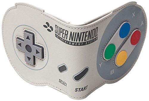 6b33a272f7 Bioworld Nintendo SNES Controller Shaped Bi-Fold Wallet, Multi-Colour Coin  Pouch,