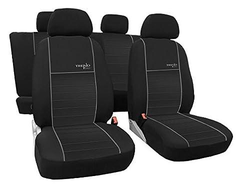 Dimensions gefertigter Housse de siège auto pour Ford C-Max I 2003–2010, la meilleure qualité au design Housses Trend Line (Disponible en 6couleurs).
