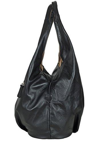 Sac modern en cuir marron – fabriqué en Italie noir Noir