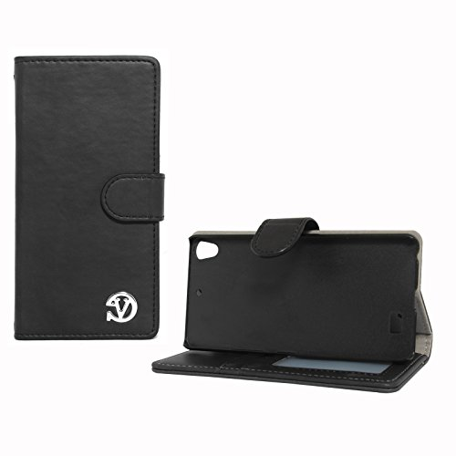 VanGoddy Premium Self Stand Mary Wallet Flip Book Cover Case for Gionee Elife S5.1 (Black)  available at amazon for Rs.159