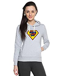 Campus Sutra Womens Printed Grey Sweatshirt (AW15_H_W_SD_GR_L)
