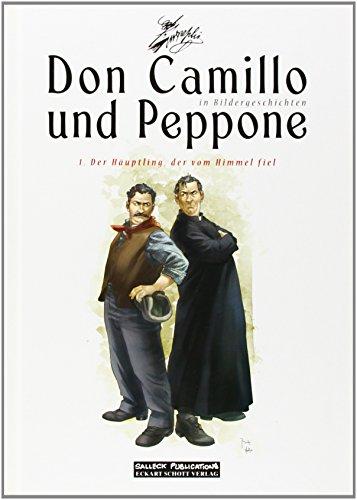 Buchcover Don Camillo und Peppone in Bildergeschichten 01. Der Häuptling, der vom Himmel fiel