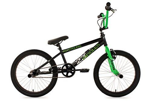 KS Cycling Fahrrad BMX Freestyle Circles, Grün, 20, 566B