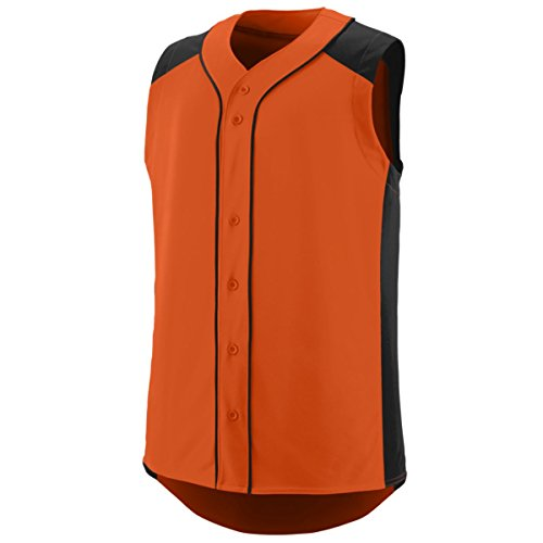 Augusta Sportswear Boys' Sleeveless Slugger Baseball Jersey L Orange/Black (Sleeveless Augusta Jersey)