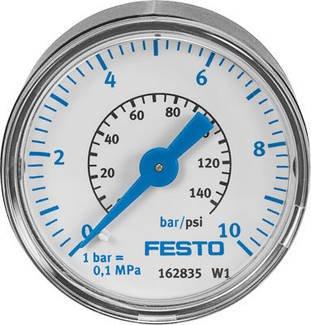 Preisvergleich Produktbild MA-40-10-1/8 (359874) Manometer Anzeigebereich [bar]:0 bis 10bar Entspricht Norm:EN 837-1