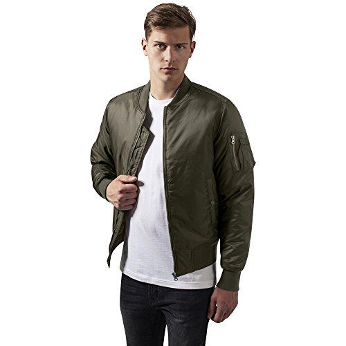 Urban Classics Herren Jacke Basic Bomber Jacket, Grün (Darkolive 551), Medium (Herstellergröße: M)