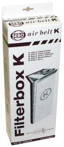 Vacuum Filter Bag Box (SEBO 6629AM Vacuum Filter Bag Box for K Series, 8-Pack by Sebo)