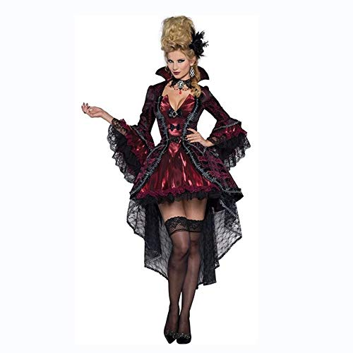 Olydmsky karnevalskostüme Damen Halloween Hexe Kostüm Vampir Zombie Kostüm Demon Queen Outfit Make-up Tanzkostüm