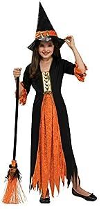 Halloween - Disfraz de Bruja gótica para niña, Talla M infantil 5-7 años (Rubie