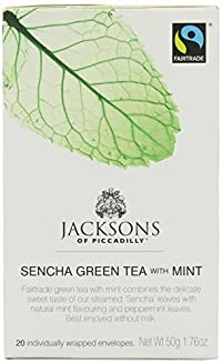 Jacksons of Piccadilly Green Tea & Mint 50g