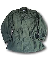 Swedish Army Issue M48 plain Olive Fatigue jacket,heavy shirt