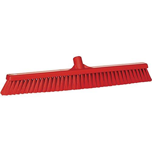 Kopf Block (Vikan grob/fein Reinigungsbürste Sweep Boden Besen Kopf, Polyester eingezogen, Polypropylen Block, 3199, rot, 1)