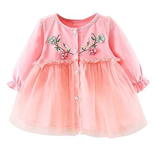JUTOO Baby Mädchen Kleinkind Kinder Langarm Blume Gaze Kleidung Party Prinzessin Kleider ()