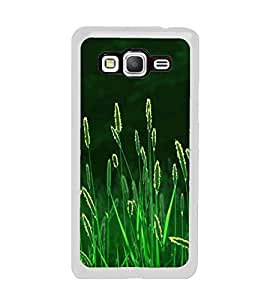 PrintVisa Green Leafs Design High Glossy Metal Designer Back Case Cover for Samsung Galaxy On7 Pro
