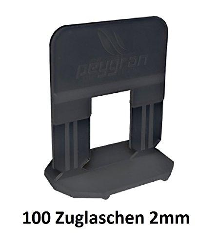 Sistema de nivelación de azulejos Peygran de 2 mm, 100 clips. Instalación de azulejos y piedra sin labios para Pro y DIY. El producto más fuerte, más preciso y fiable del mercado.