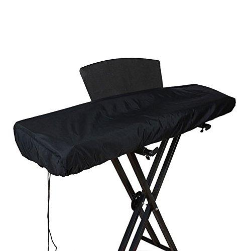 HANSHI, Abdeckung für Keyboard / elektronisches Klavier mit 61 / 88 Tasten, staubdicht, wasserdicht, mit Kordelzug 61KEY Schwarz